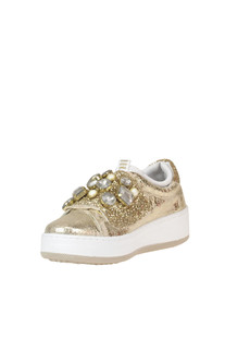 Metallic effect crakle leather sneakers DOR