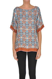 Printed satin blouse Seventy