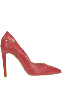 Studded leather pumps Love Moschino