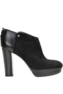 Leather and suede ankle boots Hogan