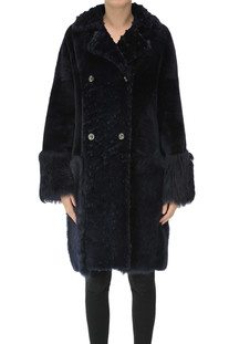 Double-breasted shearling coat Desa Nineteenseventytwo