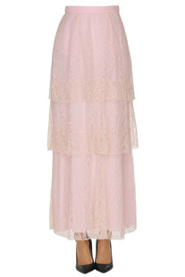 Flounced lace long skirt Dondup