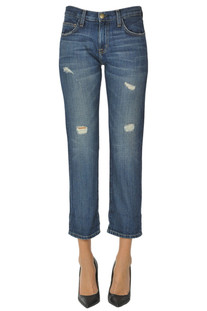 Cropped boyfriend jeans Current Elliott