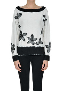 Flower embroidery pullover Patrizia Pepe