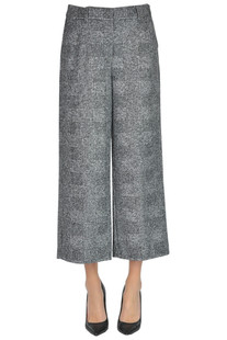 Checked print cropped trousers Kiltie