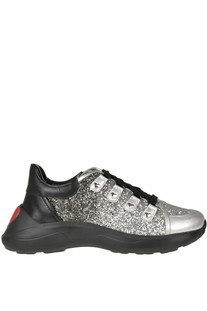 Glittered sneakers Love Moschino