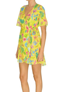 Flower print cotton dress Pin-up stars