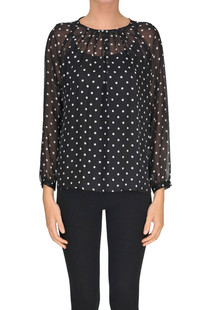 Polka dot silk blouse Seventy