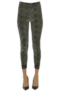 Animal print velvet leggings Motel