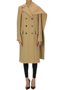 Double-breasted wool coat MSGM