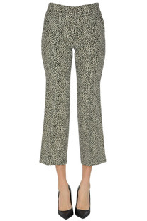 Cropped printed trousers Michael Michael Kors