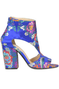 Embroidered satin ankle-boots Strategia
