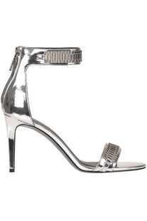 Metallic effect eco-leather sandals Kendall+Kylie
