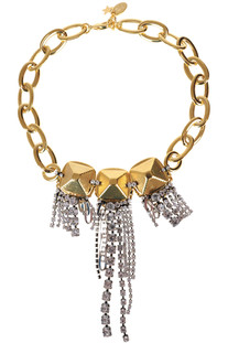 Chain necklace with strass fringes Radà