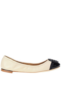 Minnie two tone leather ballerinas Tory Burch