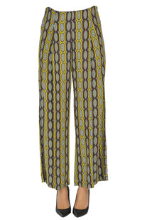 Printed viscose trousers Emma