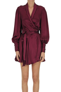 Silk mini wrapdress Zimmermann