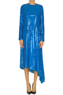 Sequined asymmetric dress MSGM