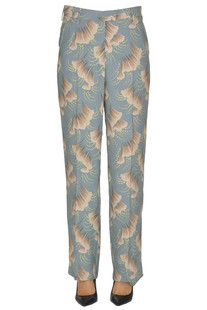 Flower print crepè trousers Dries Van Noten