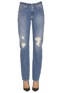 'Silona' destroyed jeans Dondup