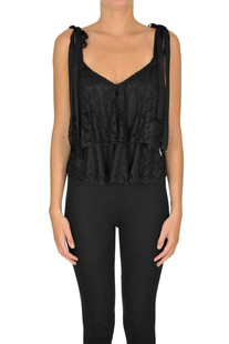 Cropped lace top Dondup