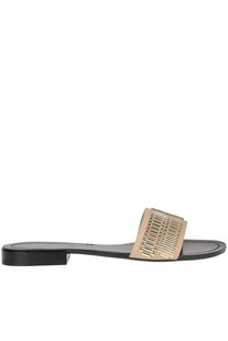 'Kennedy' leather slides Kendall+Kylie