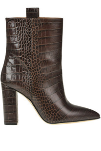 Reptile print leather ankle-boots Paris Texas