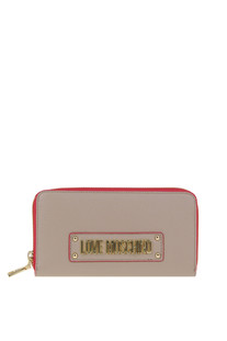 Grainy leather wallet Love Moschino