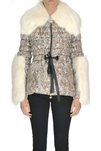 Animal print eco-friendly down jacket Elisabetta Franchi