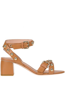 Studded leather sandals RED Valentino
