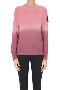 Gradient effect cotton pullover Moncler