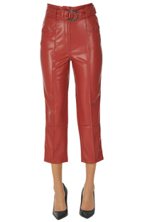Cropped eco-leather trousers Space Simona Corsellini