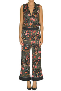 Flower print silk jumpsuit Shirtaporter