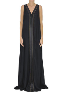 Silk crepè long dress Brunello Cucinelli