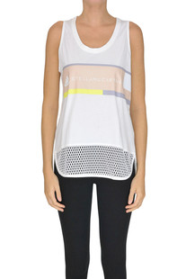 Designer logo tank-top Adidas by Stella Mccartney