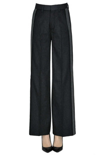 Pinstriped trousers Diesel Black Gold