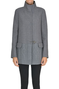 Knitted insert coat Fay