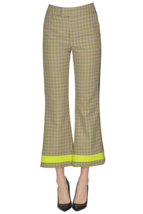 Checked print cropped trousers SSheena