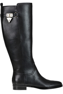 High leg leather boots Guess