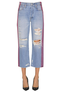 Destroyed cropped jeans Mother