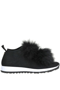 Norway fur-insert sneakers Jimmy Choo