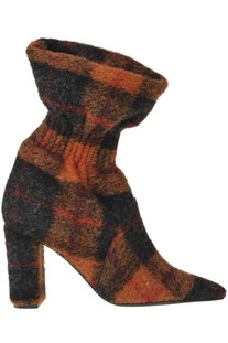 Tartan cloth ankle-boots Marc Ellis