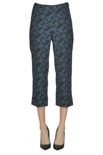 Jacquard cloth cropped trousers Seventy