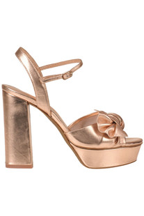 Metallic effect leather sandals Lola Cruz
