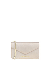 Metallic effect leather mini shoulder bag Lancaster