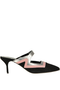 Color block leather mules Pierre Hardy