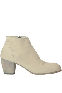 Used effect leather ankle- boots Pantanetti