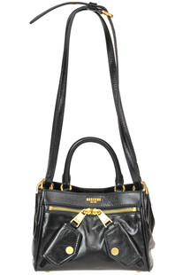 Brushed leather mini shoulder bag Moschino Couture