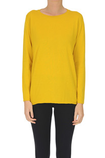 Rounded neckline cotton pullover Alyki