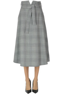Prince of Wales print midi skirt D.Exterior